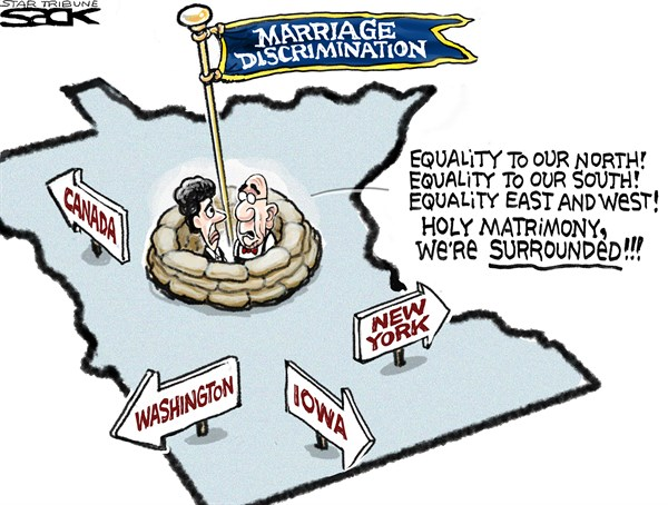 Steve Sack - The Minneapolis Star Tribune - Minnesota MarriageLOCAL - English - marriage, gay marriage, state, Minnesota, same sex