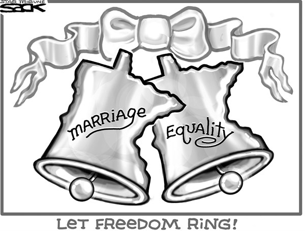 Steve Sack - The Minneapolis Star Tribune - Minnesota Marriage Equality - English - gay marriage, marriage equality, Minnesota