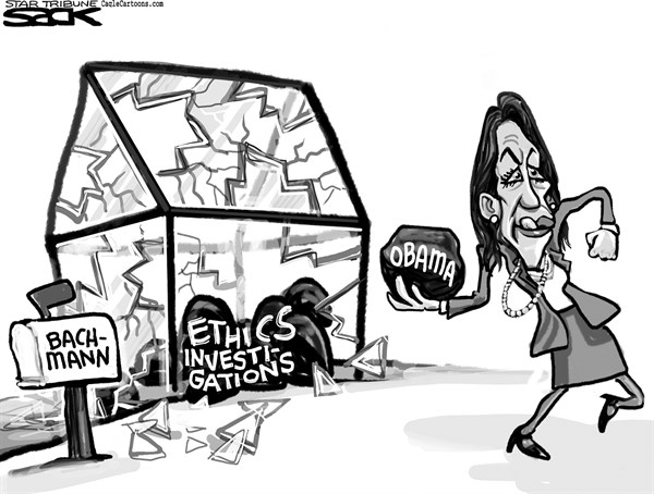 Steve Sack - The Minneapolis Star Tribune - Bachmann Ethics LOCAL - English - Bachmann ethics