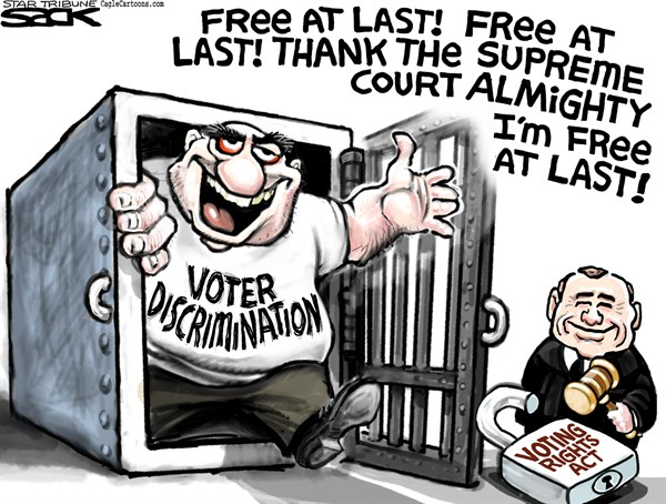 Voting Rights © Steve Sack,The Minneapolis Star Tribune,Voting Rights Act