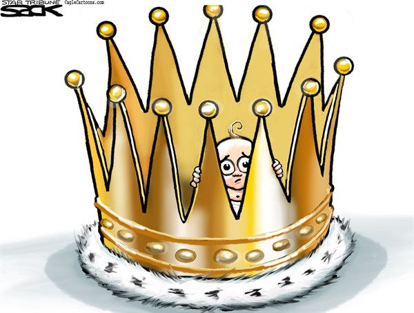 Steve Sack - The Minneapolis Star Tribune - Baby Crowning COLOR - English - royal baby