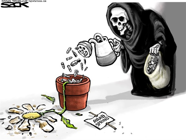 Broken Spring © Steve Sack,The Minneapolis Star Tribune,Arab Spring, mideast