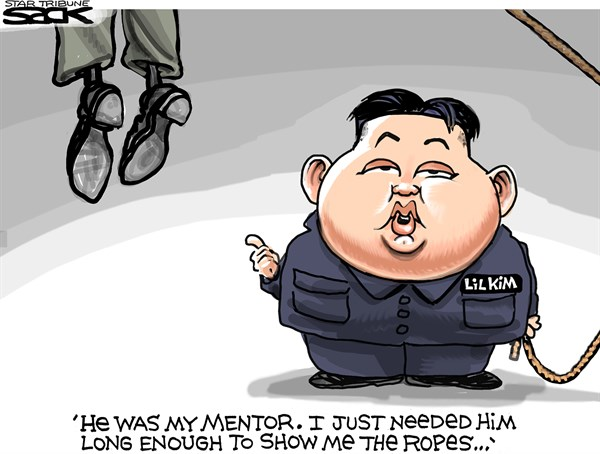 Steve Sack - The Minneapolis Star Tribune - Killer Kim COLOR - English - Kim Jong Un, North Korea
