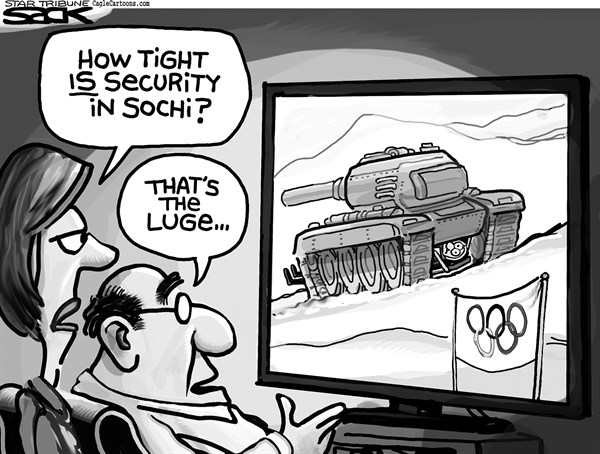 Steve Sack - The Minneapolis Star Tribune - Olympic Tank - English - Olympics, Sochi, luge, security