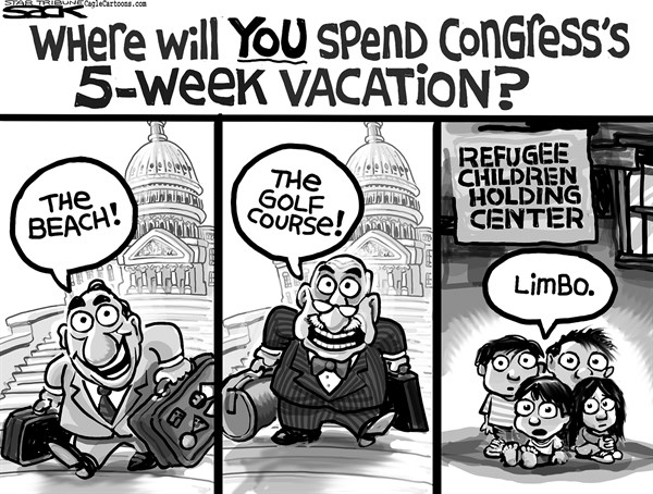 Steve Sack - The Minneapolis Star Tribune - Immigration Vacation - English - immigration, Congress
