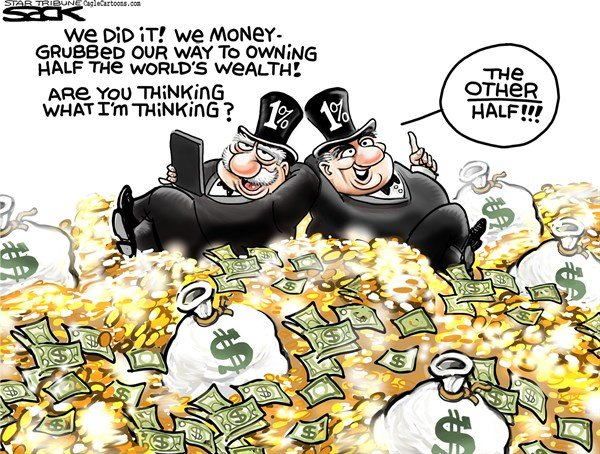 1 Want More © Steve Sack,The Minneapolis Star Tribune,1, wealth, rich, inequality, income
