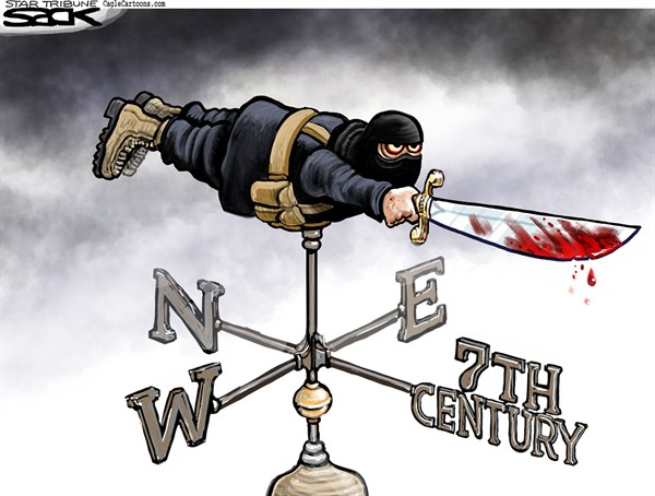 ISIS Weathervane © Steve Sack,The Minneapolis Star Tribune,ISIS, ISIL, IS, Islamic State