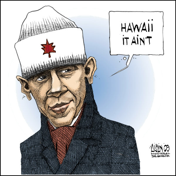 Aislin - The Montreal Gazette - Obama in Canada - English - Obama, Canada