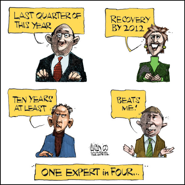 Aislin - The Montreal Gazette - Financial experts - English - fiancial crisis, experts