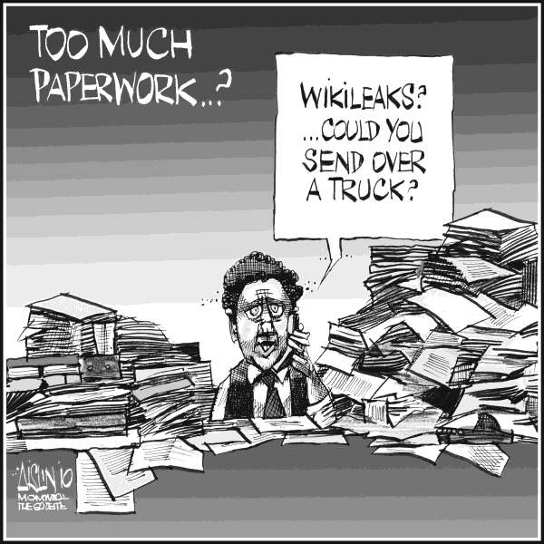 Aislin - The Montreal Gazette - Wikileaks - English - Wikileaks