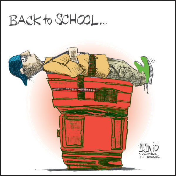 Aislin - The Montreal Gazette - Back to school COLOR - English - school, education