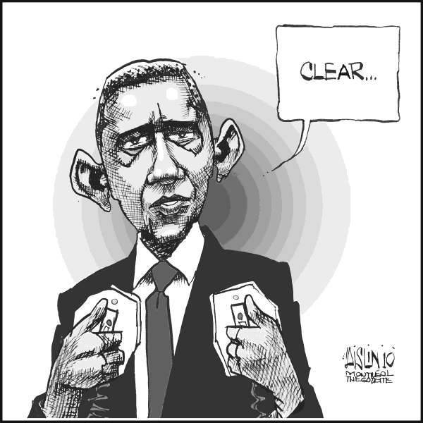 Aislin - The Montreal Gazette - Obama speech - English - Obama, speech