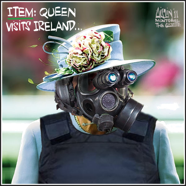 Aislin - The Montreal Gazette - Queen visits Ireland - English - Queen Elizabeth, Ireland