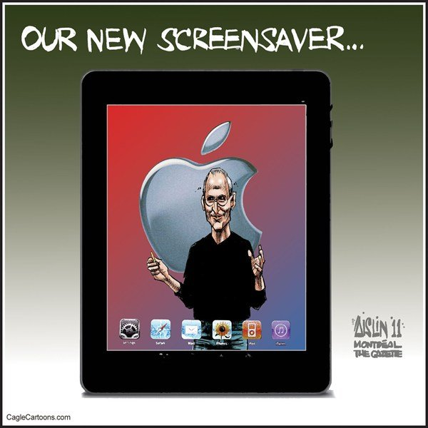 99036 600 Steve Jobs Screensaver cartoons
