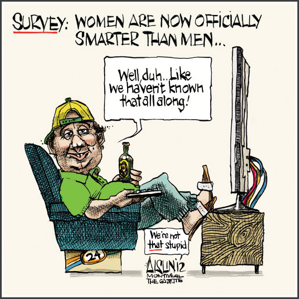 Aislin - The Montreal Gazette - Women are smarter than men - English - Women, men