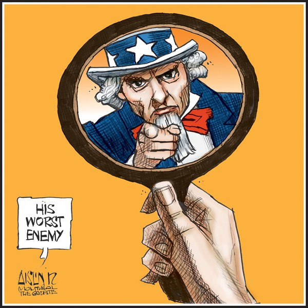 Aislin - The Montreal Gazette - USA - English - USA, Uncle Sam
