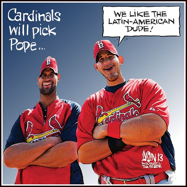 Aislin - The Montreal Gazette - Cardinals to choose Pope - English - Cardinals Pope