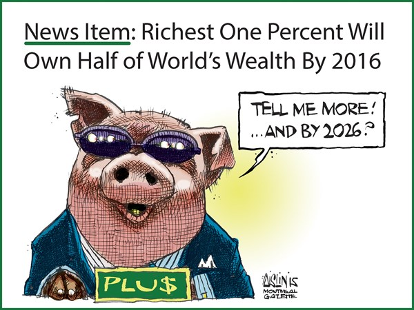 Richest 1 of people © Aislin,The Montreal Gazette,Rich, 1