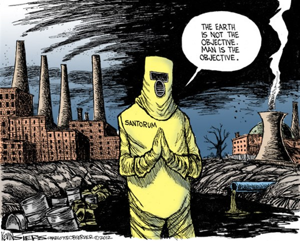 Santorum © Kevin Siers,The Charlotte Observer,Santorum,earth,man,campaign