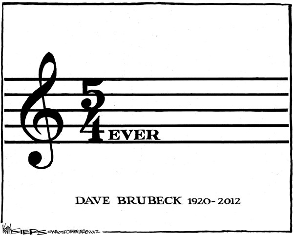 Dave Brubeck © Kevin Siers,The Charlotte Observer,death,dead,dave brubeck,music,life,career,musician,inmemoriam-2012