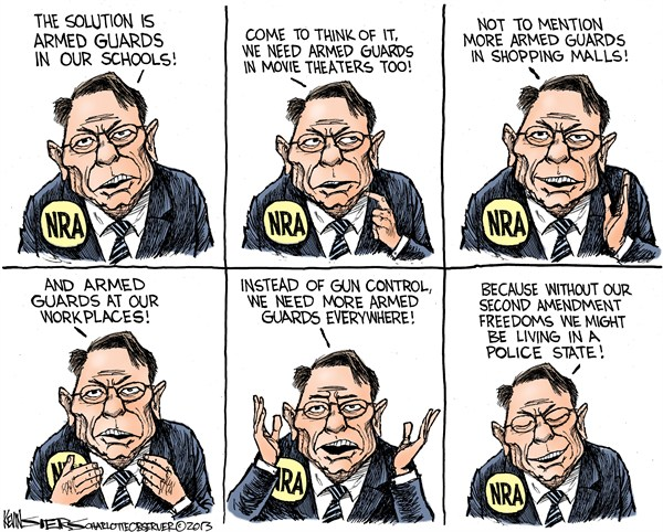124970 600 Armed Guards and the NRA cartoons
