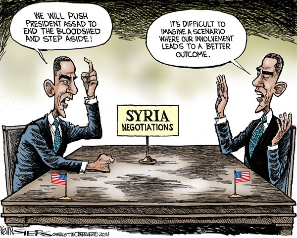 Syria Negotiations © Kevin Siers,The Charlotte Observer,