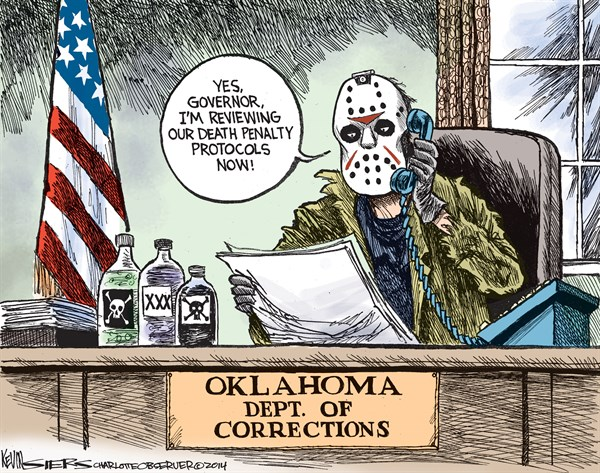 Death Penalty Protocols © Kevin Siers,The Charlotte Observer,execution,oklahoma,botched-execution,death-penalty-2