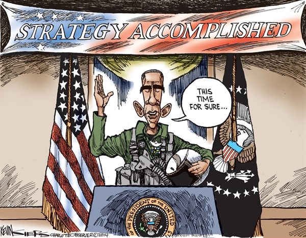 Strategy Accomplished © Kevin Siers,The Charlotte Observer,strategy,obama,president