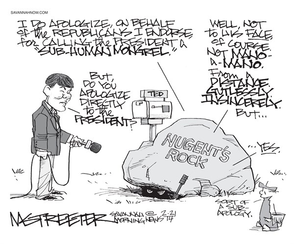 Rock and Roil © Mark Streeter,The Savannah Morning News,ted nugent,apologize