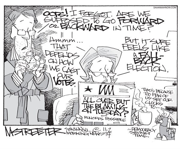 Time After Time © Mark Streeter,The Savannah Morning News,time,votes,tuesday,election,midterm-elections-2014