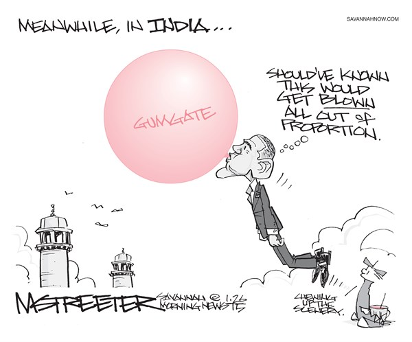 The Drone © Mark Streeter,The Savannah Morning News,india,obama,gumgate,blow