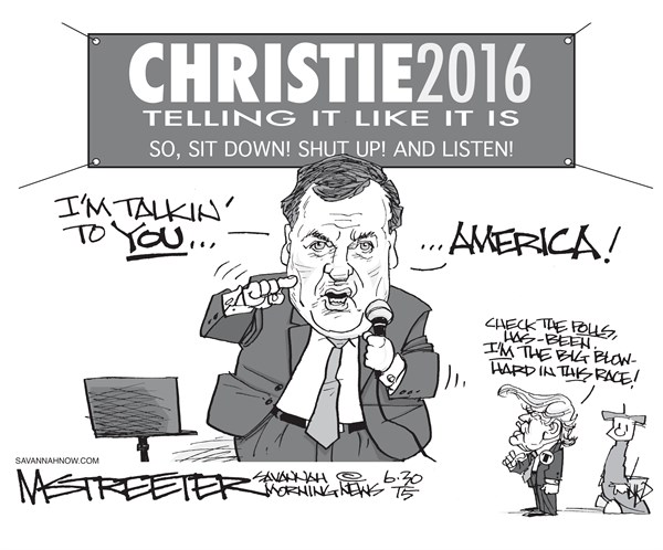 Fourteen and Counting © Mark Streeter,The Savannah Morning News,chris christie 2016,christie 2016,president,candidate,announcement,campaign