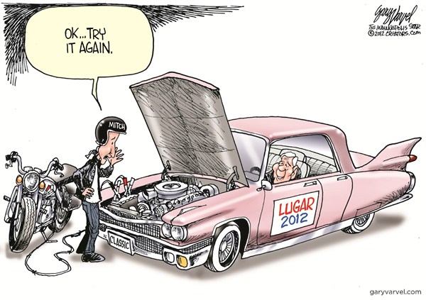 Lugar 2012 © Gary Varvel,The Indianapolis Star News,lugar,2012,mitch,classic