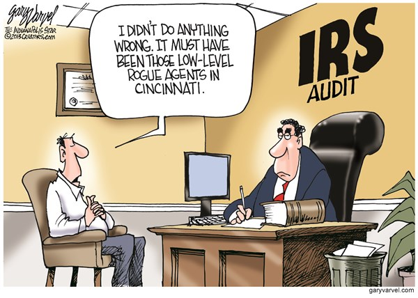 IRS Audit © Gary Varvel,The Indianapolis Star News,irs,audit,agents,tax,irs-tea-party