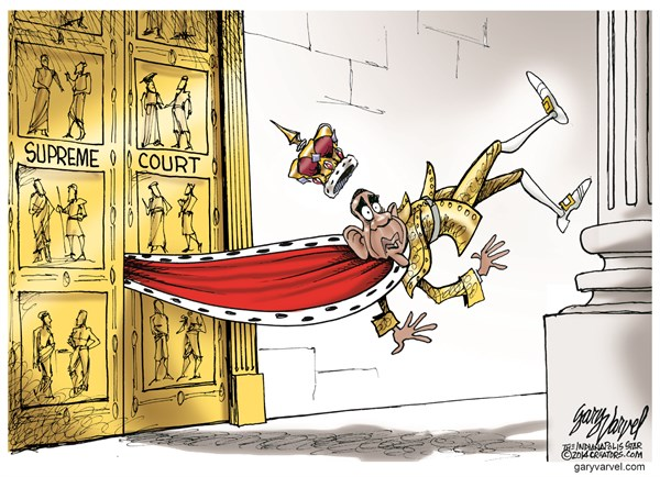 Supreme Court © Gary Varvel,The Indianapolis Star News,obama,supreme court,obama-recess-appointments
