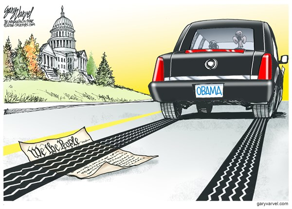 We The People © Gary Varvel,The Indianapolis Star News,obama,constitution