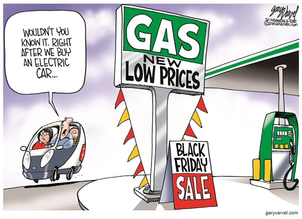 Black Friday Gas Sale © Gary Varvel,The Indianapolis Star News,gas,prices,black friday 2014,sale,black-friday-2014