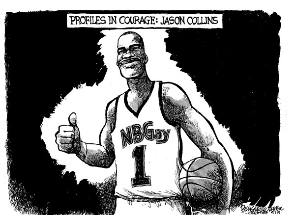 Profiles in Courage © Steve Benson,Arizona Republic,nba,basketball,gay,closet,jason-collins