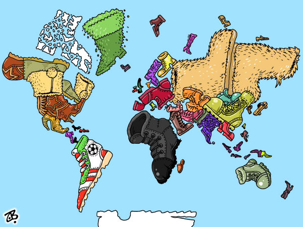 Emad Hajjaj - Jordan - world political map - English - world,world political map,swine flu,economy,china,mexico,iran,torture,global warming,immigration,environment,terrorism,obama,india,war,earth day,death penalty,governments,map,eu,usa,boots,evil,middle east,hajjaj