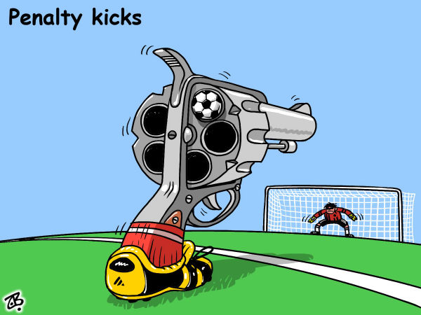 80169 600 Penalty kicks cartoons