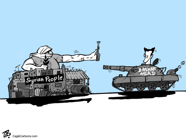 Emad Hajjaj - Jordan - Syrias revolution - English - syria, syrian people, revolution, Arabic spring, Bshar Asad, tank, mobile, youtube, peaceful protests, war crimes, dictator, people, city tank, confrontation, internet, middle east,