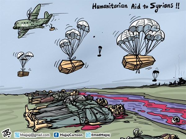 126742 600 Aid to Syrians cartoons