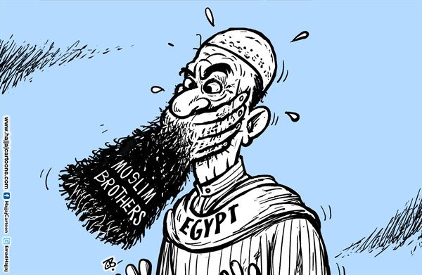Emad Hajjaj - Jordan - Freedon of speech in Egypt - English - Egypt,Muslim brothers rule,Morsi,freedom of speech,Basem Yousef,comedy,beard,banned,trail,free speech,Islam,democracy,cairo,TV show,Emad Hajjaj cartoo,Arab spring,revolution,change,dictator,army rule,middle east,
