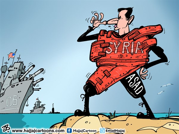Emad Hajjaj - Jordan - War in Syria - English - Bashar Asad,war in Syria,Obama,limited military strike,chemical attack massacre,syria mapbullet proof jacket,human shield,Syrian revolution,damascus,Emad Hajjaj,Middle east,fleet,