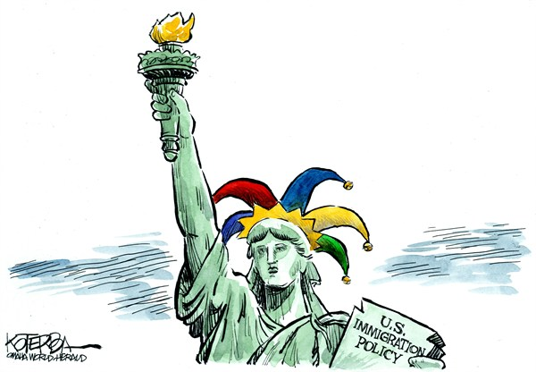 113760 600 US Immigration Policy cartoons