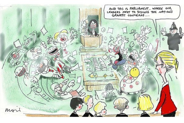 112631 600 Parliament Chaos cartoons