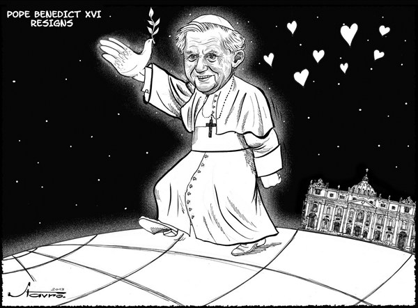126966 600 Pope Benedict Resigns cartoons