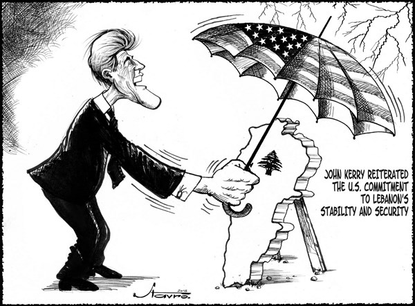 U S  Commitment © Stavro,Al Balad, Berut Lebanon,john kerry,lebanon,security