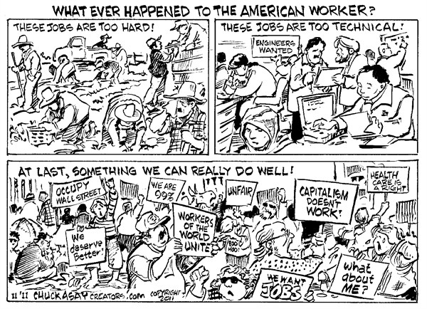 The American Worker © Chuck Asay,Colorado,Occupy Wall Street, OWS, Protesters, 99 percent