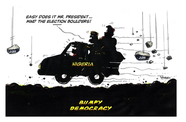 Presidential Election 2015 © Tayo Fatunla,West Africa, London England,nigeria,election,boulders,democracy